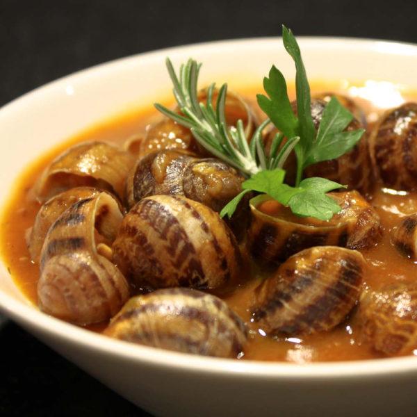 Caracoles en salsa - Eth Cerer der Urtau