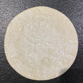 Tabla redonda nieve